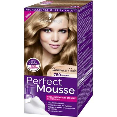 PERFECT MOUSSE Краска для волос 750 Миндаль мусс тонирующий тон 1 sand soft touch matt mousse essence