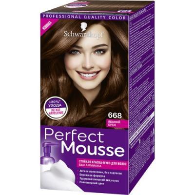 PERFECT MOUSSE Краска для волос 668 Лесной Орех мусс тонирующий тон 1 sand soft touch matt mousse essence