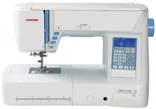 лучшая цена Швейная машинка Janome Skyline S5 белый