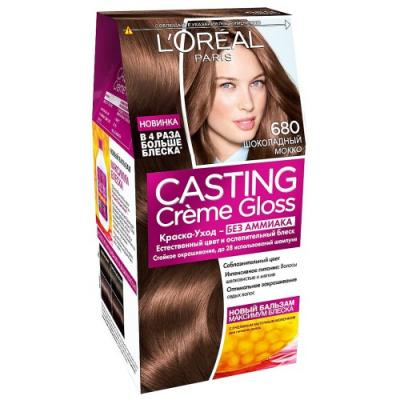 LOREAL CASTING CREME GLOSS Крем-Краска для волос тон 680 Шоколадный Мокко недорого
