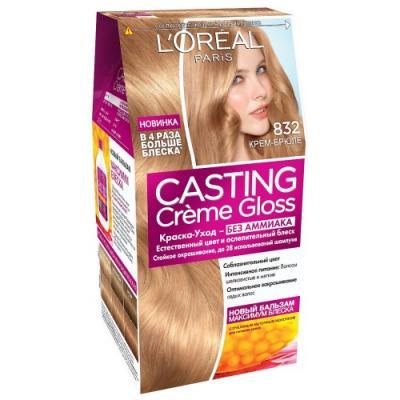 LOREAL CASTING CREME GLOSS Крем-краска для волос тон 832 Крем-брюле недорого