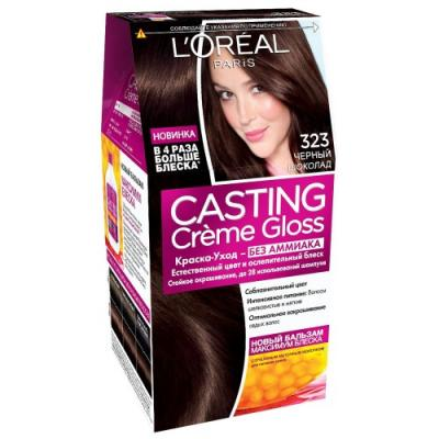 LOREAL СASTING CREME GLOSS Крем-краска для волос тон 323 черный шоколад недорого