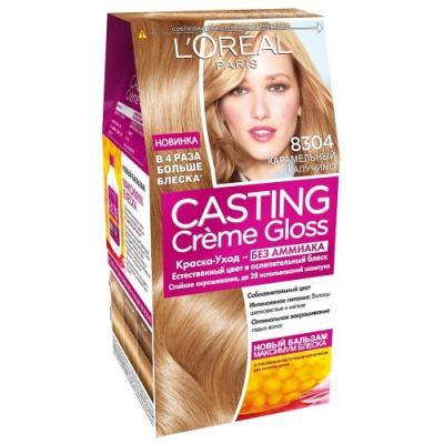 LOREAL CASTING CREME GLOSS Крем-Краска для волос тон 8304 карамельный капучино недорого