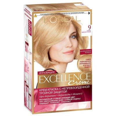 Картинка для LOREAL EXCELLENCE краска для волос тон 9 очень светло-русый