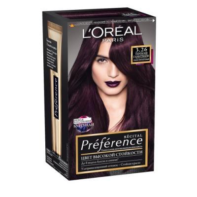 LOREAL PREFERENCE Краска для волос тон 3.26 Терпкий глинтвейн