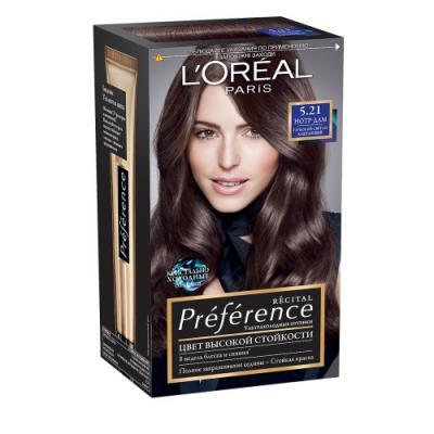 LOREAL PREFERENCE Краска для волос тон 5.21 нотр-дам