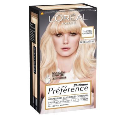 LOREAL PREFERENCE Краска для волос тон 6 платина суперблонд осветленный l oreal paris l oreal краска для волос preference 4 12 монмартр глубокий коричневый