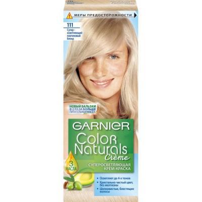 GARNIER Краска для волос COLOR NATURALS 111 Платиновый Блондин garnier стойкая крем краска для волос olia без аммиака 10 1 пепельный блондин
