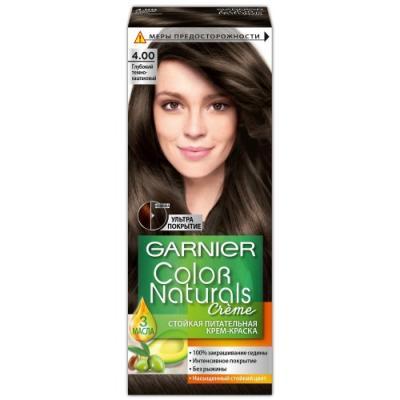GARNIER Краска для волос Color Naturals 4.00 Глубокий тёмно-каштановый garnier стойкая крем краска для волос olia без аммиака оттенок 5 9 сияющий каштановый бронз