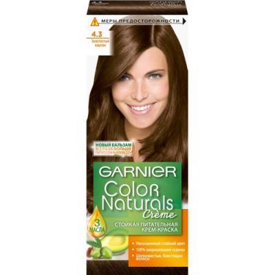 GARNIER Краска для волос COLOR NATURALS 4.3 Золотой Каштан