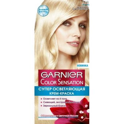 GARNIER Краска для волос COLOR SENSATION 110 Ультра Блондин Чистый Бриллиант garnier стойкая крем краска для волос olia без аммиака 10 1 пепельный блондин