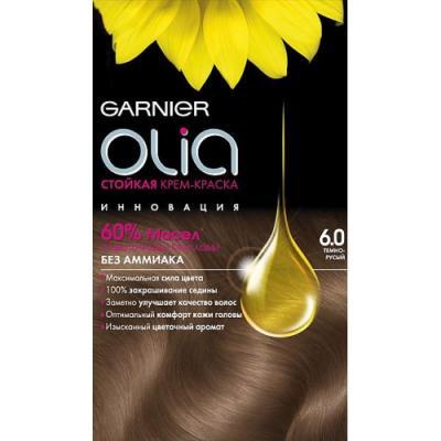 GARNIER Краска для волос OLIA 6.0 Темно-русый garnier стойкая крем краска для волос olia без аммиака 7 13 бежевый русый