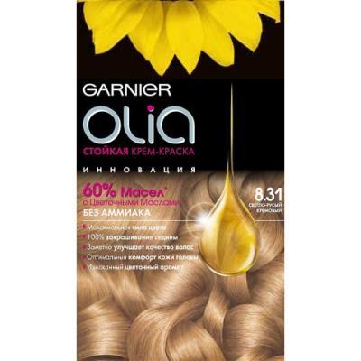 GARNIER Краска для волос OLIA 8.31 Светло-русый кремовый краска для волос garnier garnier ga002lwivs40