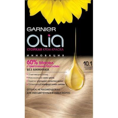 GARNIER Краска для волос OLIA 10.1 Пепельный блондин garnier стойкая крем краска для волос olia без аммиака оттенок 5 9 сияющий каштановый бронз