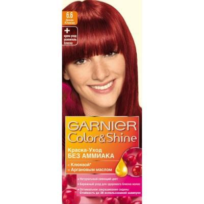GARNIER Краска для волос COLOR&SHINE 6.60 Дикая Клюква