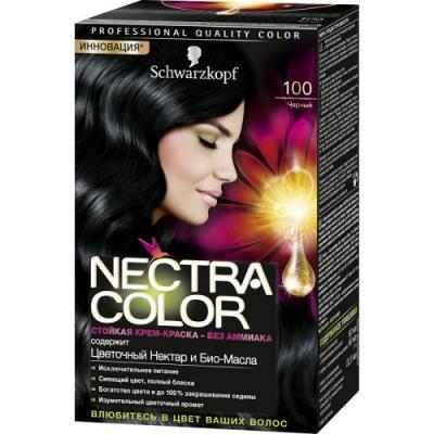 Nectra Color Краска для волос 100 Черный 142,5 мл