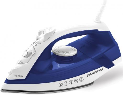 Утюг Polaris PIR 2240AK 2200Вт белый синий цена