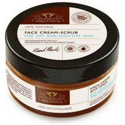 PLANETA ORGANICA Скраб-крем для лица для сухой и чувствительной кожи 100мл скраб крем для лица для сухой и чувствительной кожи planeta organica