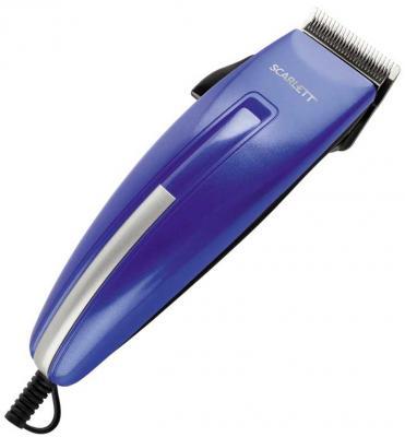Машинка для стрижки волос Scarlett SC-HC63C10 синий машинка для стрижки волос scarlett sc hc63c07