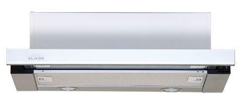 Вытяжка встраиваемая Elikor Интегра Glass 50Н-400-В2Д нержавеющая сталь/стекло белое