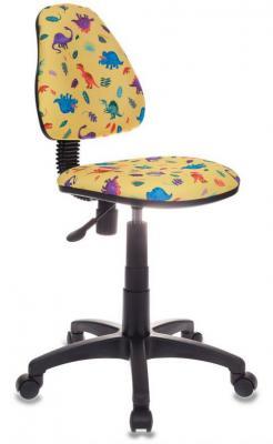 Кресло детское Бюрократ KD-4/DINO-Y желтый динозаврики
