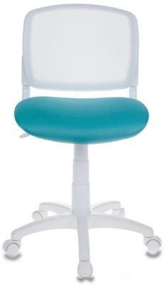 Кресло детское Бюрократ CH-W296NX/15-175 спинка сетка белый TW-15 сиденье бирюзовый 15-175 кресло для офиса бюрократ ch 299 g 15 48 спинка сетка серый сиденье серый 15 48