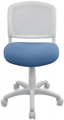 Кресло детское Бюрократ CH-W296NX/15-107 спинка сетка белый TW-15 сиденье голубой 15-107