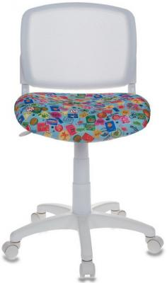 Кресло детское Бюрократ CH-W296/MARK-LB спинка сетка белый TW-15 сиденье голубой марки