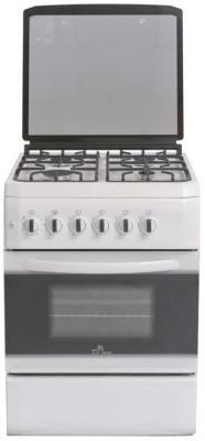 Газовая плита De Luxe 606040.34-001г белый газовая плита de luxe 606040 24 001г кр чр газовая духовка белый