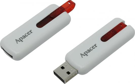 Флешка USB 8Gb Apacer Flash Drive AH326 AP8GAH326W-1 белый