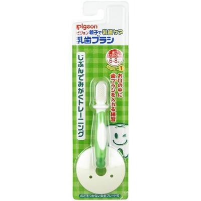 PIGEON Зубная щетка с фиксатором 6 мес. зеленая pigeon гель от больных зубов 30г ka50