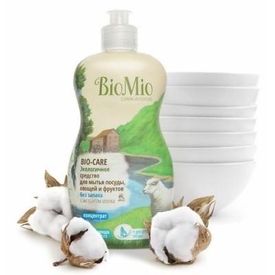 Средство для мытья посуды BioMio Bio-Care 450мл ЭБ-245 бытовая химия bio mio средство для мытья посуды овощей и фруктов biomio bio care концентрат 450 мл