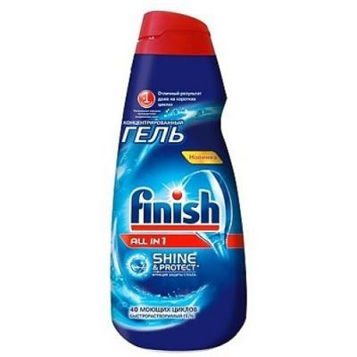 Средство для мытья посуды Finish Shine&Protect: All in1 1л 3007344 средство для мытья посуды finish 170707595496 для посудомоечных машин 65