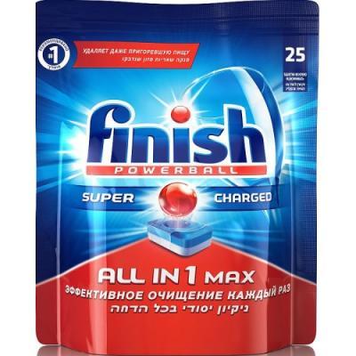 Таблетки для посудомоечной машины Finish All in 1 Max - super charged 25шт 3018760 кеторол 10мг 20 таблетки
