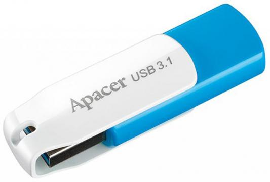 Флешка USB 16Gb Apacer Flash Drive AH357 AP16GAH357U-1 синий флешка usb 16gb apacer flash drive ah326 ap16gah326b 1 черный