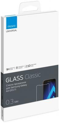 Защитное стекло Deppa для Samsung Galaxy A3 2017 0.3мм прозрачное 62287 deppa для samsung galaxy a3 2016 flowers василек прозрачный