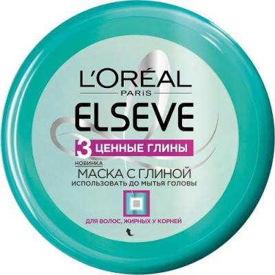 LOREAL ELSEVE Маска для волос 3 Ценные глины 150мл