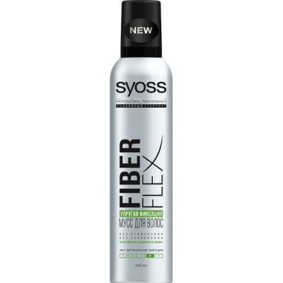 Мусс для волос SYOSS Fiber Flex - Упругая фиксация 250 мл 2123113 syoss мусс ceramide максимально сильная фиксация 250 мл