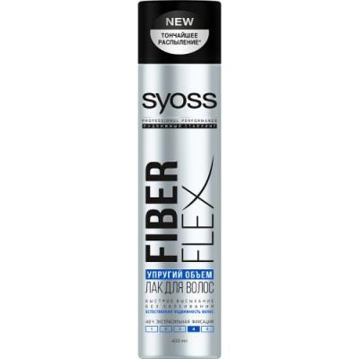 Syoss FiberFlex Упругий Объем лак для волос экстрасильной фиксации 400 мл мусс для укладки syoss fiberflex volume упругий объем