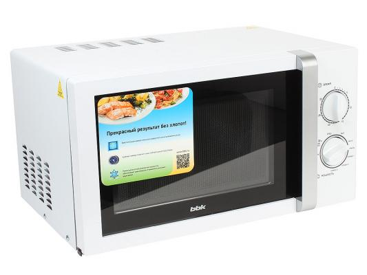 СВЧ BBK 23MWG-845M/WS 800 Вт белый серебристый цена и фото