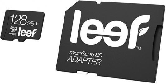 Карта памяти Micro SDXC 128Gb Class 10 Leef LMSA0KK128R5 + адаптер micro securedigital 128gb kingston sdxc class 10 sdc10g2 128gbsp