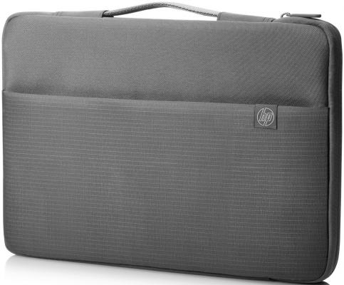 Чехол для ноутбука 15.6 HP Carry Sleeve серый 1PD67AA чехол для ноутбука 17 hp carry sleeve черный серебристый