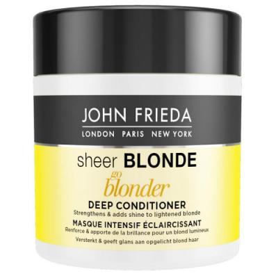 Sheer Blonde Go Blonder Маска для светлых волос 150 мл john frieda кондиционер осветляющий для натуральных мелированных и окраш волос sheer blonde go blonder 250 мл