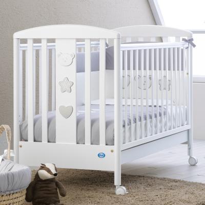 Купить Кроватка Pali Merlino (белый), массив бука / ДСП / МДФ, Кроватки без укачивания