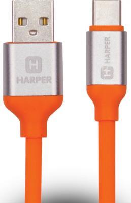 Кабель Type-C 1м Harper SCH-730 круглый оранжевый H00001633