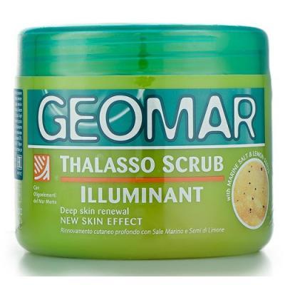 GEOMAR Талассо-скраб осветляющий с гранулами лимона 600 гр. geomar молочко для тела geomar fluida corpo geomar 300 мл