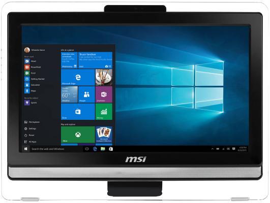 MSI Pro 20ET 4BW-201RU 19.5(1600x900)/Touch/Intel Pentium N3710(1.6Ghz)/4096Mb/1000Gb/DVDrw/Int:Intel HD/Cam/BT/WiFi/war 1y/black/DOS моноблок msi pro 20et 4bw 072ru 19 5 hd touch cel n3160 1 6 4gb 1tb 7 2k hdg400 dvdrw free dos gbiteth wifi клавиатура мыш