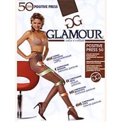 """Колготки GLAMOUR """"Positive press"""" 4 50 den бледно-коричневый"""