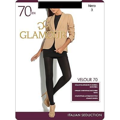 Колготки GLAMOUR Velour 3 70 den черный колготки glamour glamour gl302fwxqk42