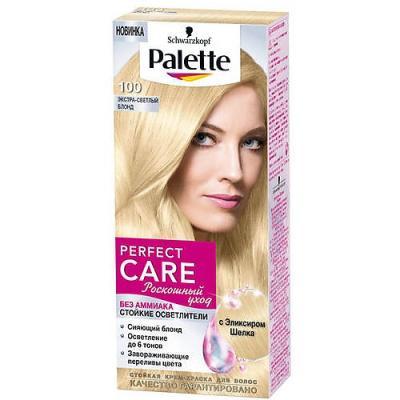 PALETTE PERFECT CARE Крем-краска 100 Экстра-светлый блонд 120 мл palette perfect care 220 кристальный блонд 110 мл